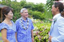 Light Blue Hawiian Dress