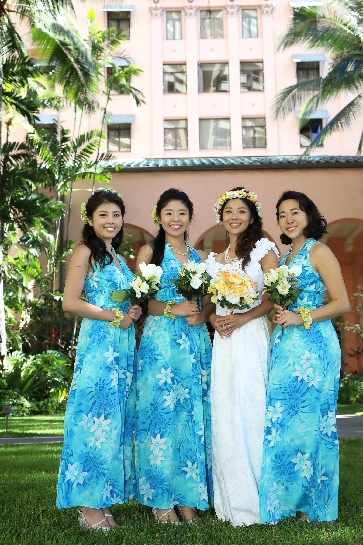 Hawaiian Style Bridesmaid