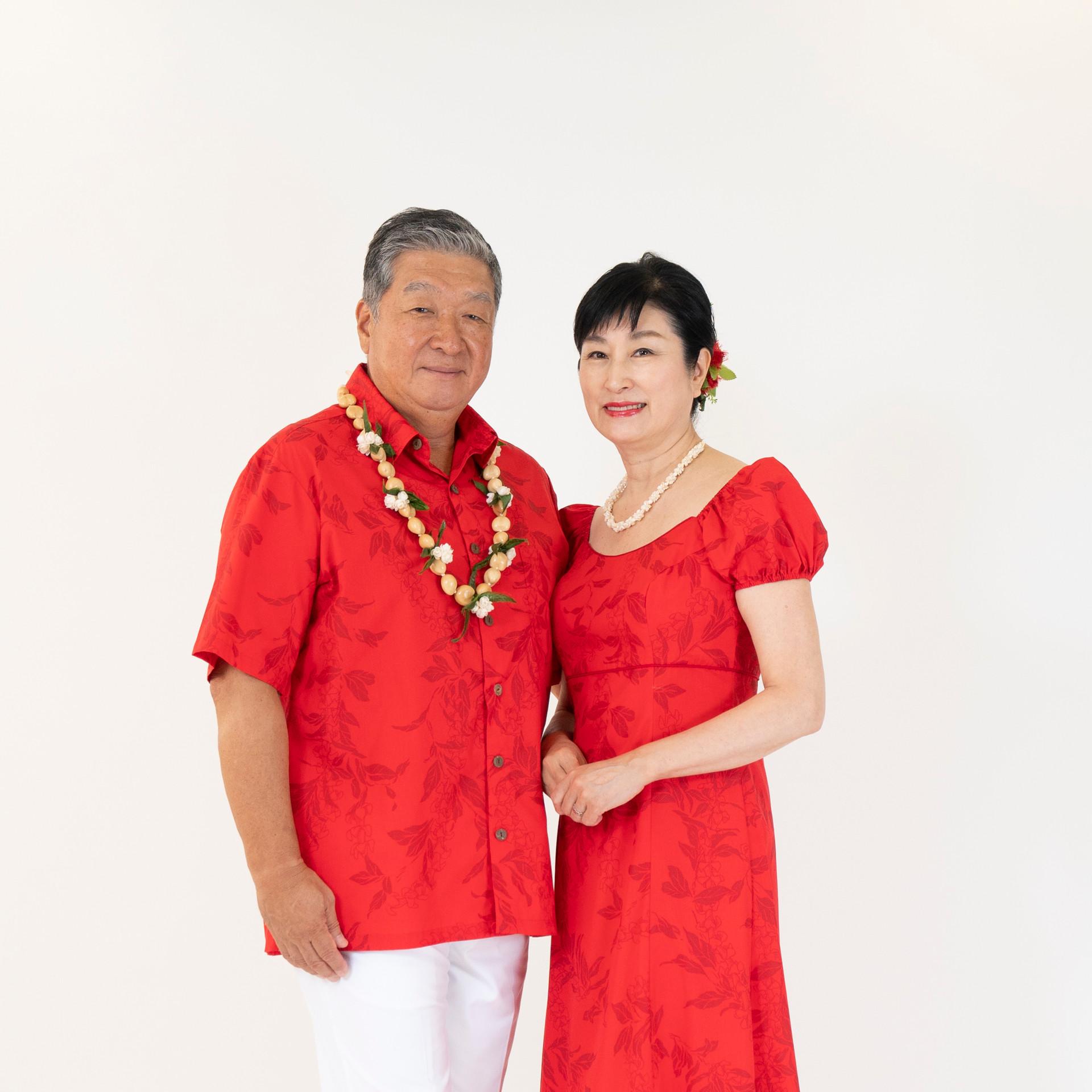 Maile print dress and shirt