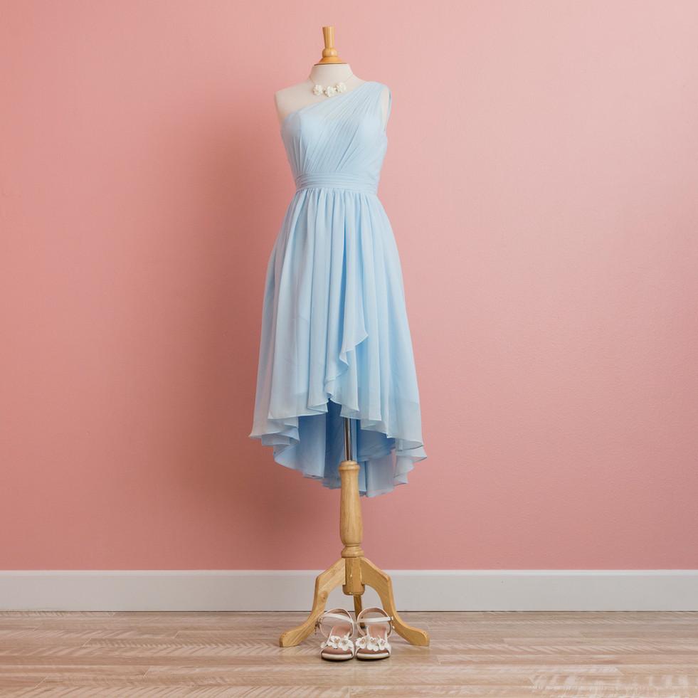 Pastel Blue Fishtail Dress