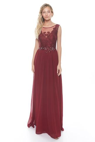 Mauve Sexy Prom Dress