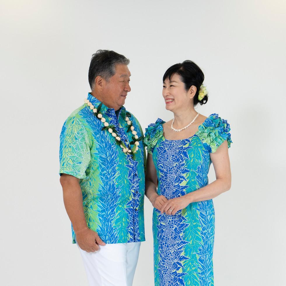 Blue lei print straigh dress