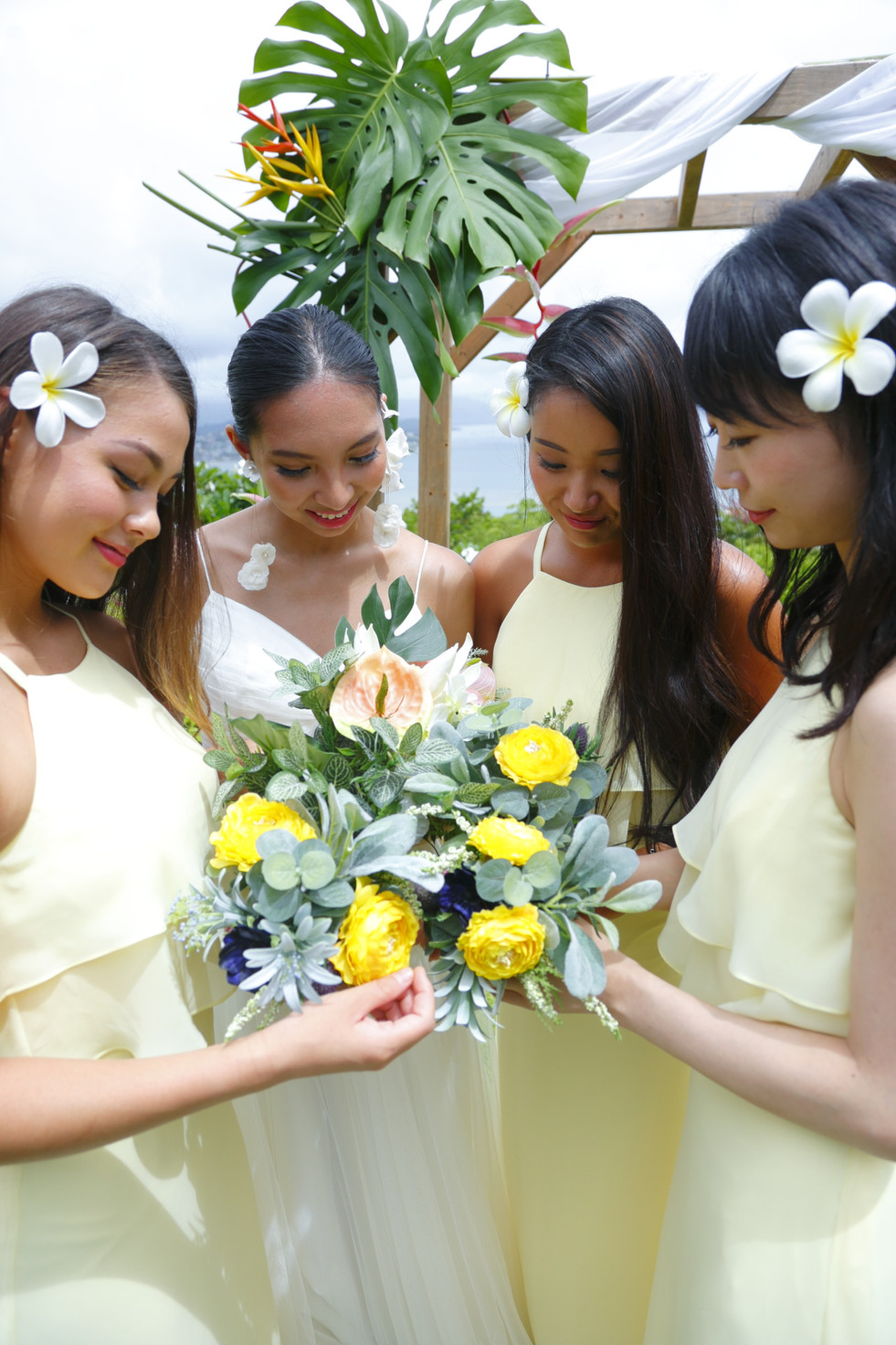 Pastel Yellow Bridesmaid Dress