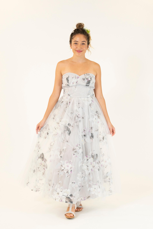 Floral Print Party Dress