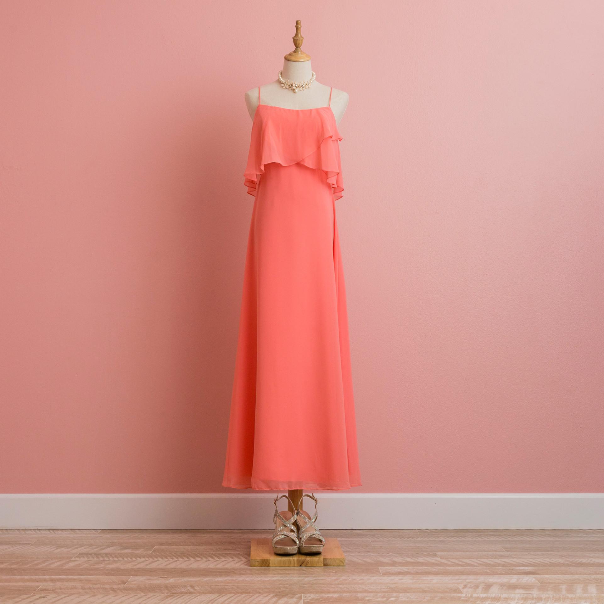 Orange layer dress: BD1004PI