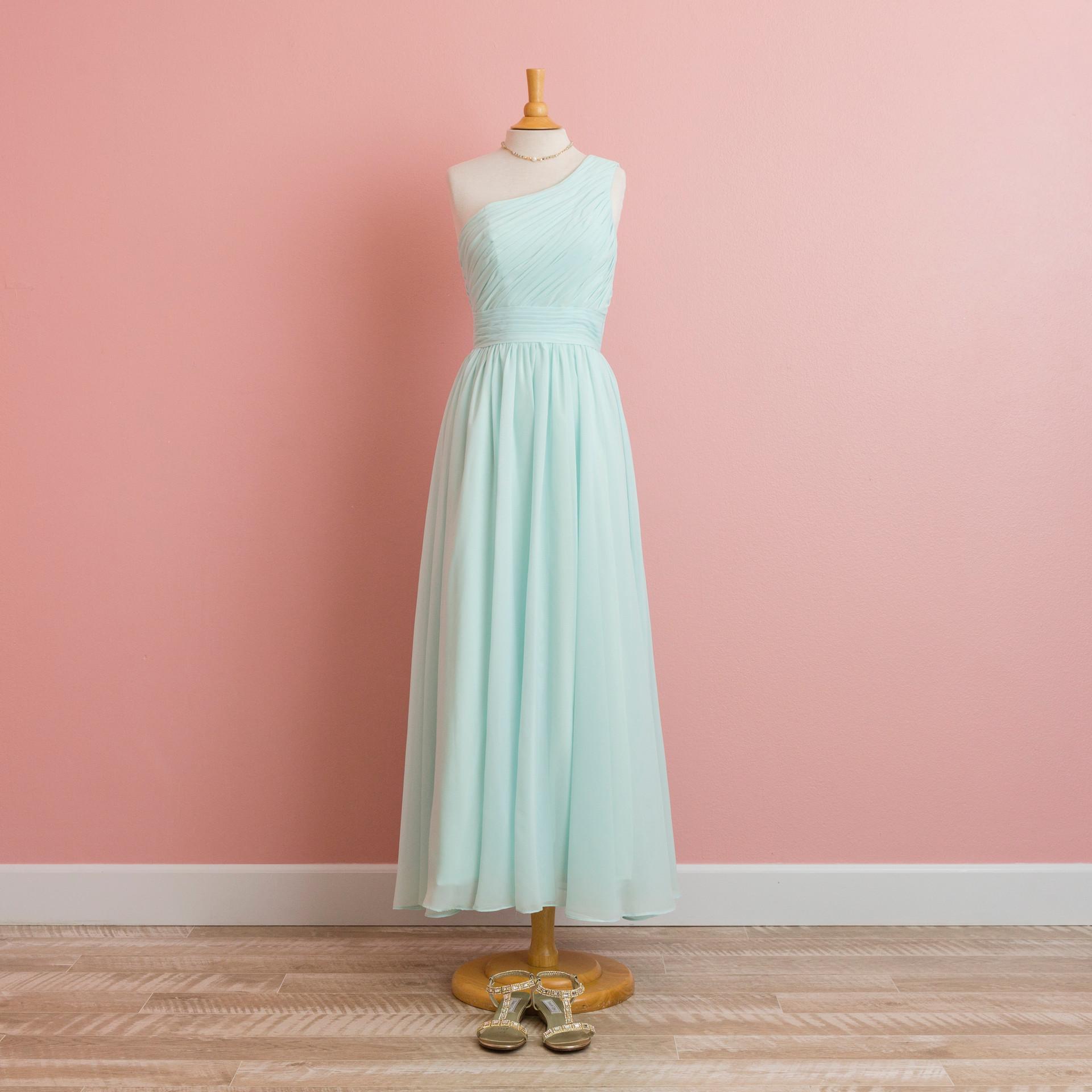 Light Mint Color Long Dress