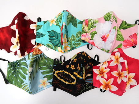 Hawaiian Fabric Masks for Fashion Statement