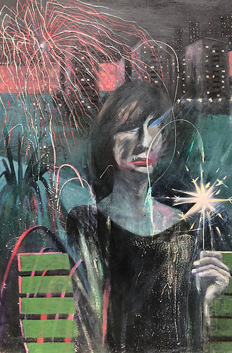 James Dearlove, Woman with sparkler.jpg