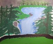 Evan Meece- Waterfall Painting