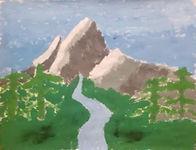 Evan Meece- Mountain Painting