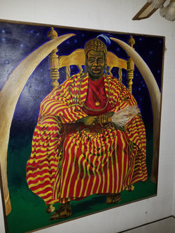 Pop's African Cheiftain Painting