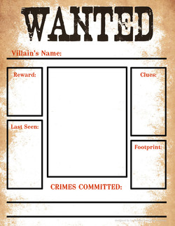Villains' Wanted Poster