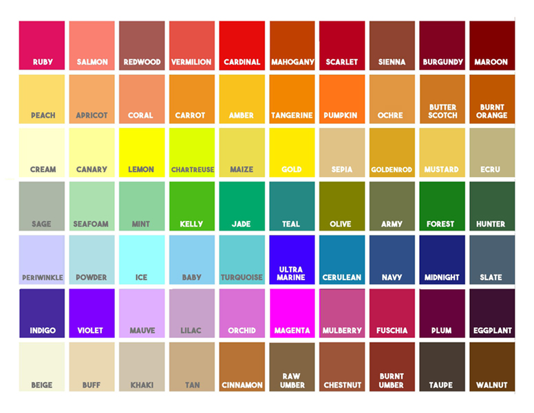 art color chart