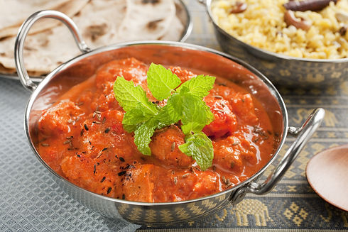 The most popular curry in the UK, chicke
