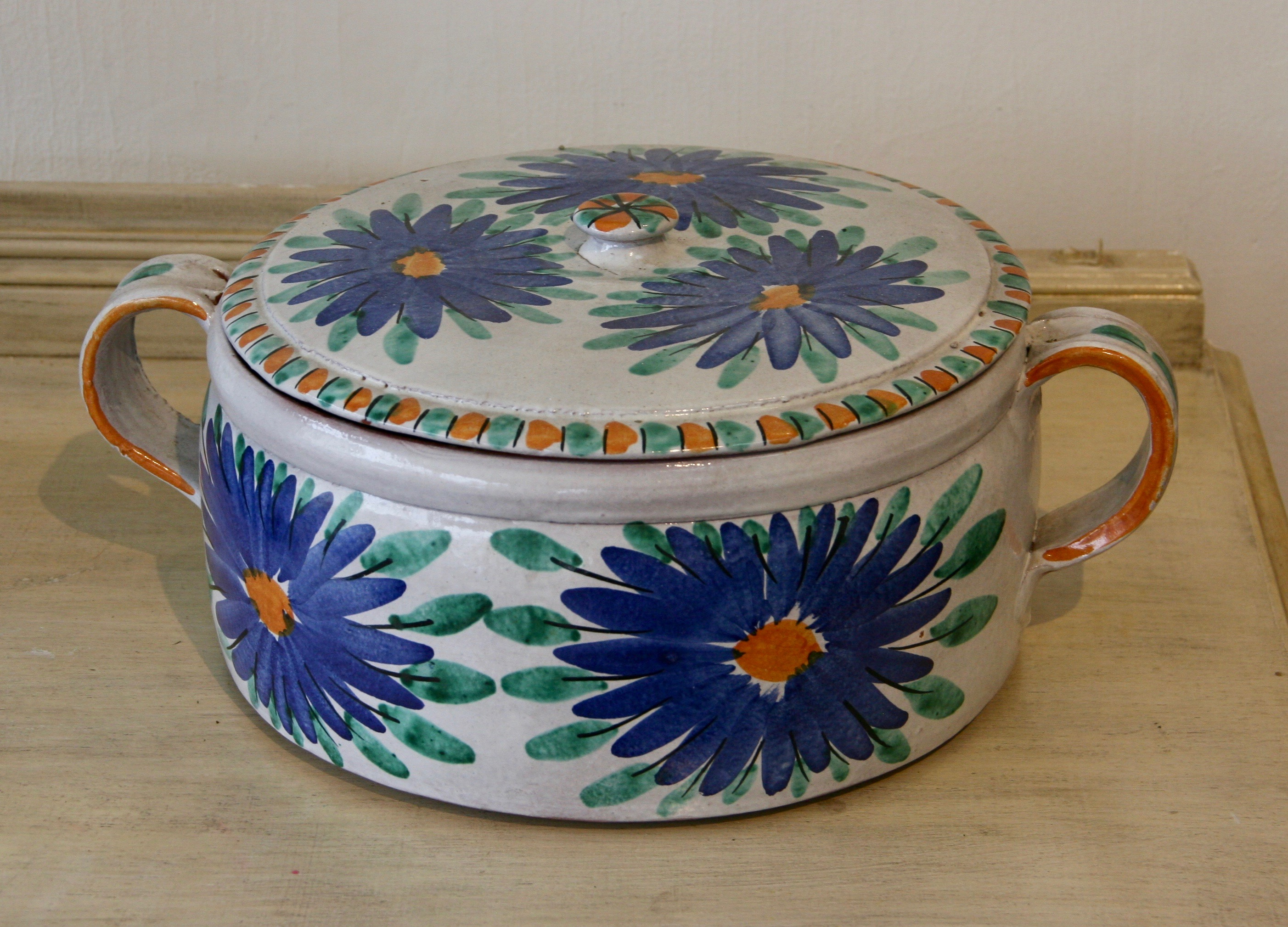 Mexican Large Pot with Cover 1970