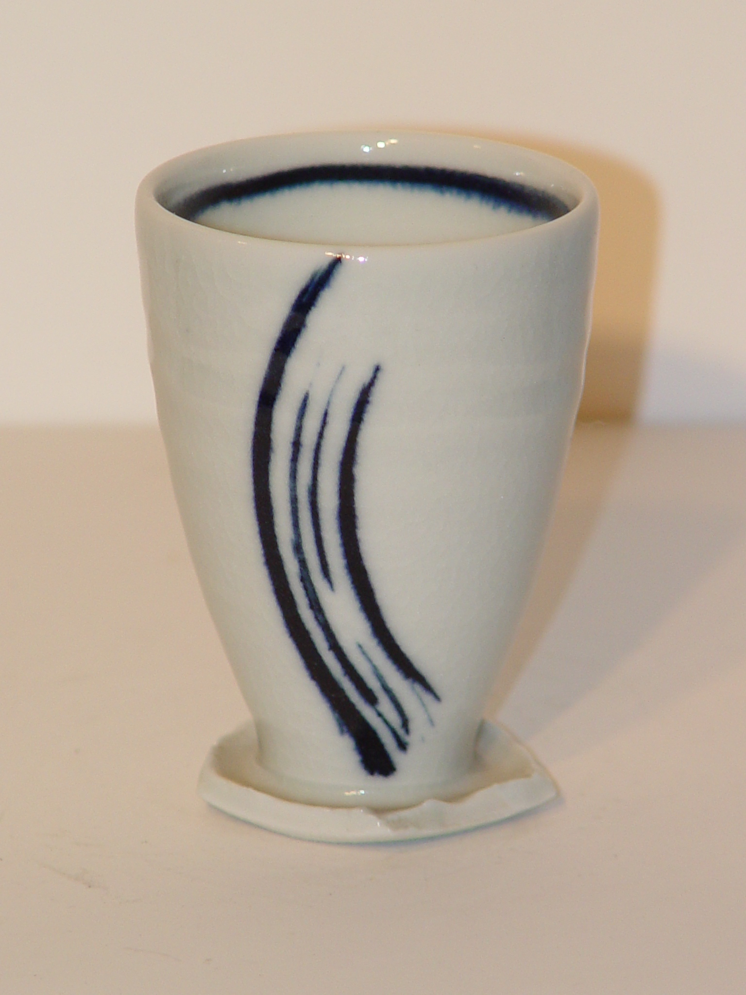 cobalt over glazed on porcelain
