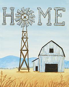 Windmill & Barn Painting