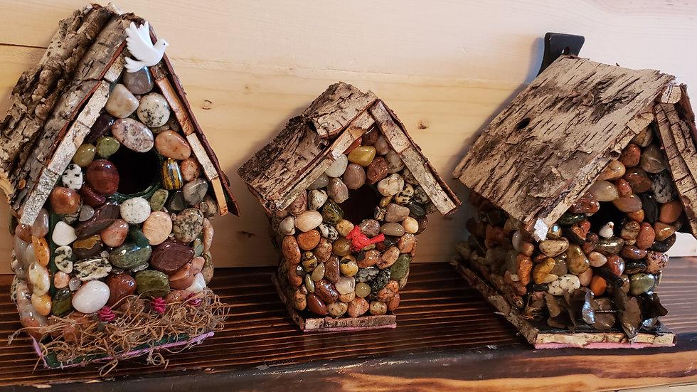 Lake Superior stone birdhouse
