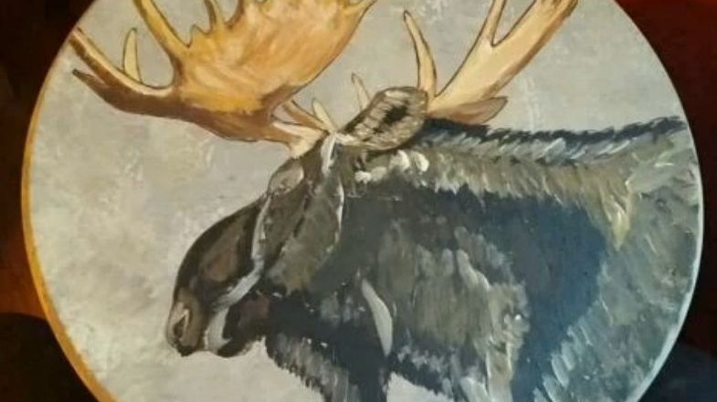 Moose head bar stool