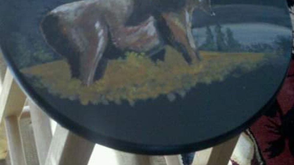 black moose stool