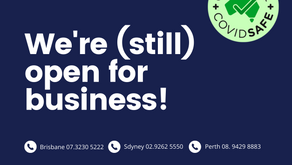 We are (still) open for business!