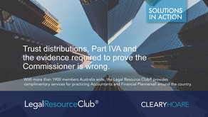 Trust distributions, Part IVA and the evidence required to prove the Commissioner is wrong