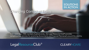 Changing Control of Trusts