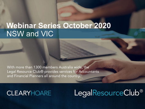 Legal Resource Club® Virtual Workshop - NSW and Victoria