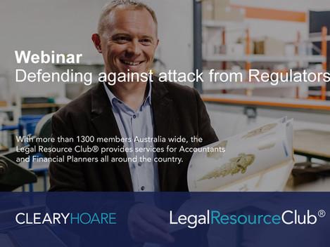 Webinar: Defending against attack from Regulators