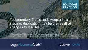 Testamentary Trusts and excepted trust income: duplication may be the result of changes to the law