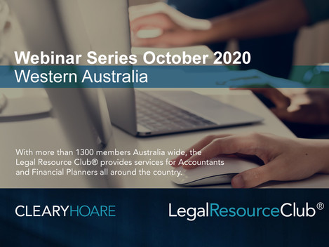 Legal Resource Club® Virtual Workshop - Western Australia
