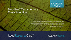 Bloodline® Testamentary Trusts in Action