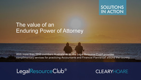 The Value of an Enduring Power of Attorney