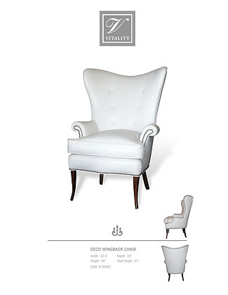 Deco Wingback Chair