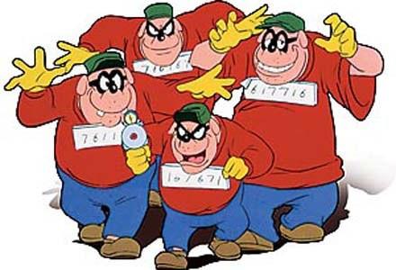 DUCKTALES, The Beagle Boys, 1987-1990