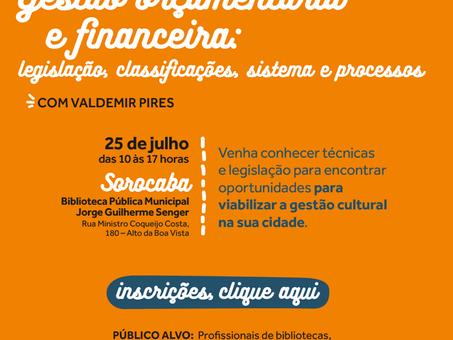 Curso Gestão Orçamentária e Financeira para profissionais de bibliotecas: Sorocaba
