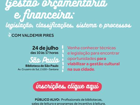Curso Gestão Orçamentária e Financeira para profissionais de bibliotecas: São Paulo