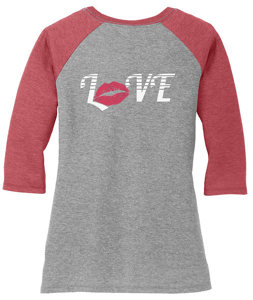 Love Lips Baseball Tee