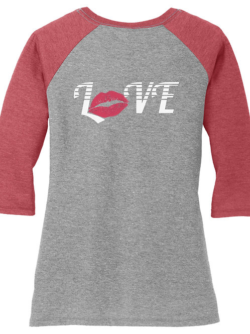 Love Lips Baseball Tee