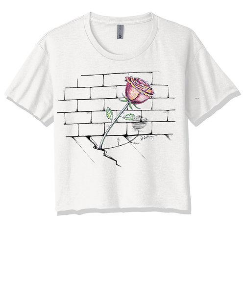 Concrete Rose Crop Top