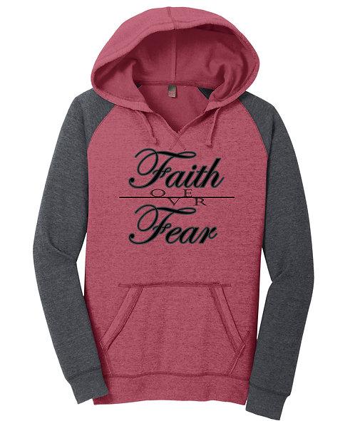 Faith/Fear Ladies Hoodie