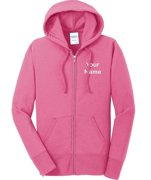 Ladies Core Fleece Full Zip Hoodie