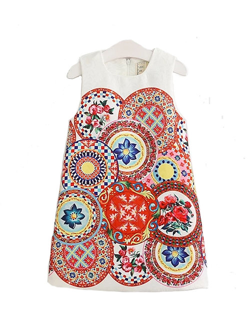 Meghan geometric dress