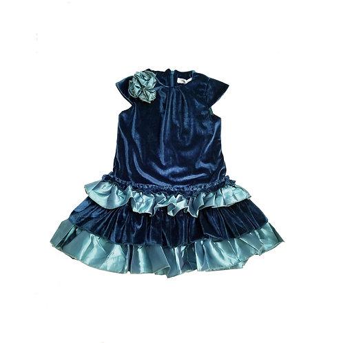 Caroline velvet dress