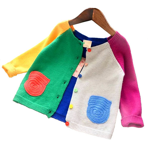 Zoey color block cardigan