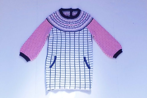 Ziora pink sweaterdress