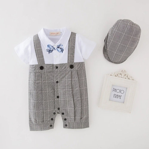Charles romper and ivy hat 2pc set