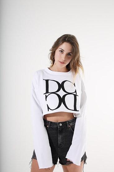 DC ロングTシャツ<へそ出し>(白)