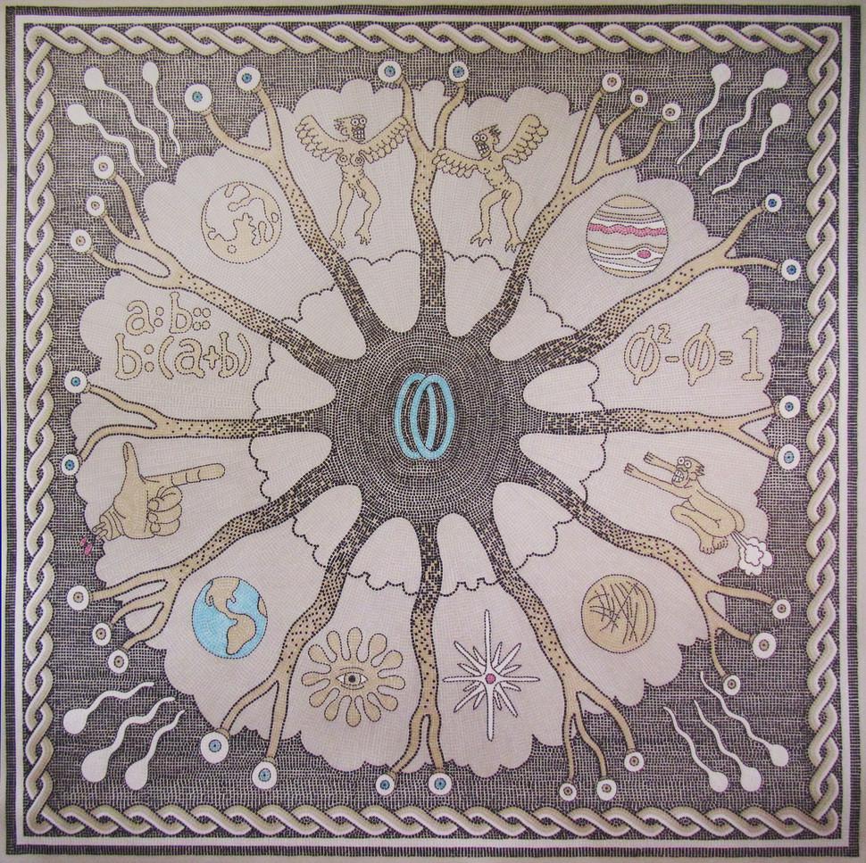 Zodiac Wheel Mosaic Print