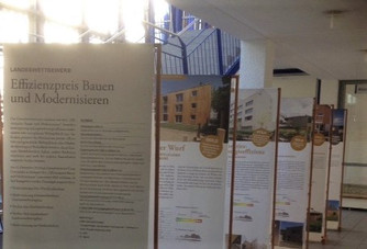 """Ausstellung """"Landeswettbewerb Effizienzpreis Bauen und Wohnen""""im Bürgerhaus Schwieberdingen"""